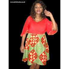 chiffon and african print combi dress afrofrocks