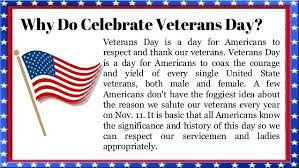 why do we celebrate veterans day 2017 complete detail