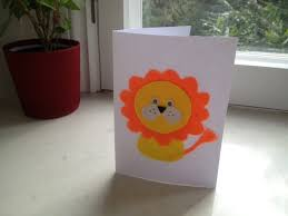 lion birthday card my kid craft