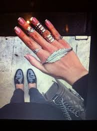 beautiful hand rings images Jewels ring hand rings feathers trident pretty prom jpg
