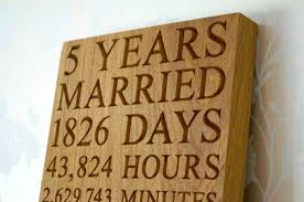 5 year wedding anniversary gift ideas 5th wedding anniversary plaques makemesomethingspecial