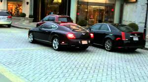 bentley garage hd bentley continental gt loud startup and parking 2010