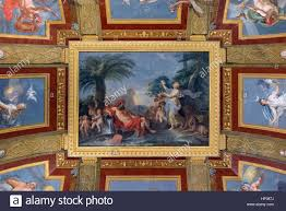 ceiling paintings villa borghese gallery rome italy stock photo