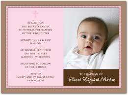 pink cross photo baptism invitations greeting cards
