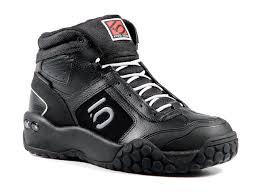 leather bike shoes five ten impact high downhill mountain bike shoe team black