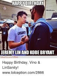 Jeremy Lin Meme - harp birthda nba memes ansinin jeremy lin and kobe bryant happy