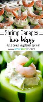 food canapes food bliss easy entertaining shrimp cucumber canapés two ways