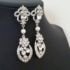 shop art deco pearl earrings on wanelo