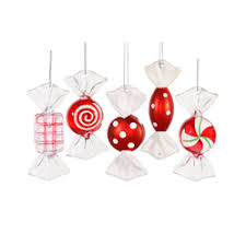 large peppermint ornaments santa s quarters