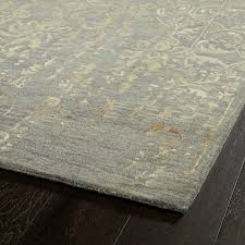 wool rug floral distressed wool rug shades of light