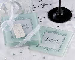 coaster favors glass and coaster favors