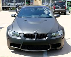 matte teal car matte black bmw car wrap dallas zilla wraps