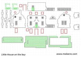 free dollhouse floor plans free doll house dxf pattern router forums miniature houses