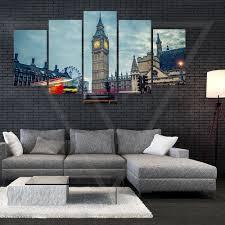 big ben and double decker 5 panel canvas u2013 vertex premier