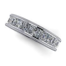princess cut wedding ring princess cut wedding band princess cut eternity band