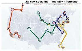 quebec city and las vegas the home of the nhl realignment