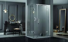 1400 Shower Door Aquadart Inline 2 Sides Hinge Door Frameless Rectangular Shower