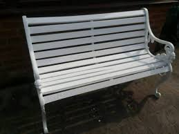 victorian cast iron garden bench free delivery in exeter