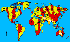 map showing time zones in usa our sunclocks human sundials the most frequently asked questions