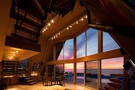 a frame houses beachfront a frame house with wide open interior
