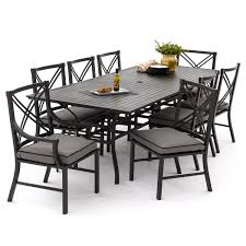 Patio Dining Sets For 6 - audubon 9 piece aluminum patio dining set with 6 side chairs and