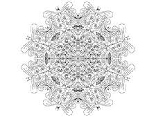 free craft download mandala colouring sheet