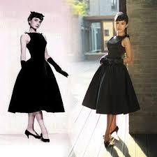 2017 lbd little black dress 50 60s rockabilly audrey hepburn dress