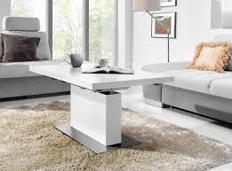 Wohnzimmertisch G Stig Design Couchtisch Tisch Mn 7 Weiß Seidenmatt Höhenverstellbar