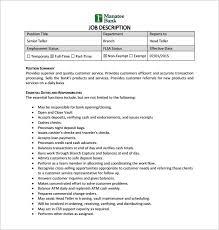 Resume For Bank Teller Job by Teller Resume Example Project Portfolio Manager Job Description