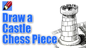 how to draw a chess castle or rook youtube