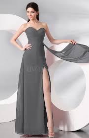 grey plain sleeveless zip up chiffon floor length prom dresses