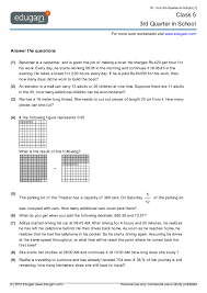 class 5 math worksheets and problems 3rd quarter in