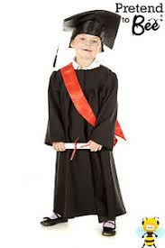 kids cap and gown kids childrens childs graduation gown cloak cap hat costume