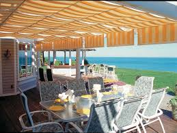 Backyard Shade Canopy by Awnings Shadetree Retractable Awnings Provide Shelter For Sun
