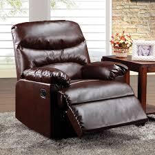 sleek recliner arcadia bonded leather recliner multiple colors walmart com