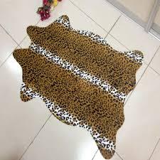 leopard area rug 110 75 cm zebra leopard giraffe tiger cow print rug faux cowhide