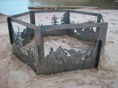 Custom Metal Fire Pits by Wildlife Fire Rings Home U0026 Cabin Decor Pinterest Backyards