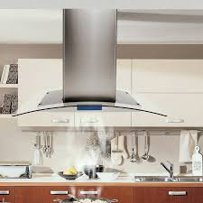 kitchen island range hood cosmo 36 900 cfm ducted island range hood in stainless steel