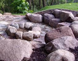 Boulder Landscaping Ideas Outdoor Fireplaces Backyard Fire Pits Boulder Images Inc