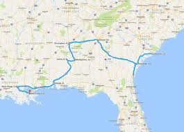 trip map the usa south road trip itinerary finding the universe