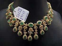 emerald stone necklace jewelry images Emerald uncut diamond necklace jpg
