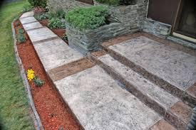 Flagstone Stamped Concrete Pictures by Concrete Ann Arbor Mi Boardwalk Concrete Concepts