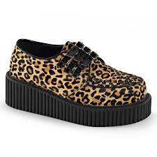 leopard home decor leopard print woven platform womens creeper gothic shoe