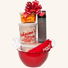 popcorn gift baskets gourmet popcorn gift baskets johnson s popcorn city nj