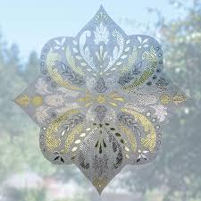 Decorative Window Decals For Home Artscape 12 In Medallion Decorative Window Film Accent 01 0144