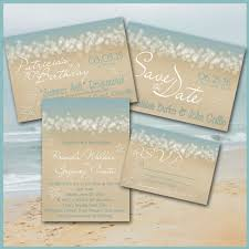 wedding invitation rsvp date beach invitation summer ocean waves aqua sand engagement save