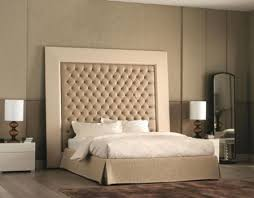 Custom Bed Headboards Bedroom Enjoyable Cream Domination With Two White Nightstand