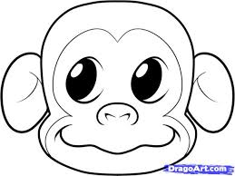 gorilla face coloring how to draw a monkey face step by step