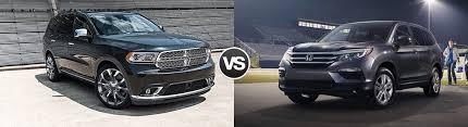 compare dodge durango compare the 2016 dodge durango vs honda pilot