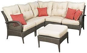 amazon com mission hills laguna 6 piece patio sectional seating